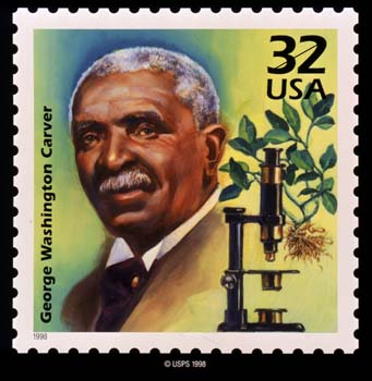 Stamp with George Washington Carver's picture
